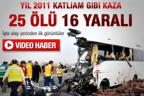 Diyarbakır-Batman karayolunda kaza: 24 ölü