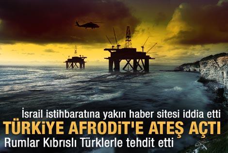Türkiye Afrodit'e ateş açtı iddiası