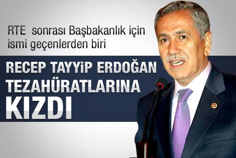 Arınç 'Recep Tayyip Erdoğan' tezahüratına kızdı