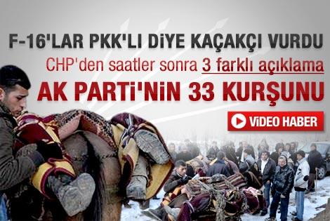 35 köylünün bombalanmasına CHP'den ilk tepki