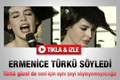 Pelin Batu'dan canlı yayında Ermenice türkü - İzle