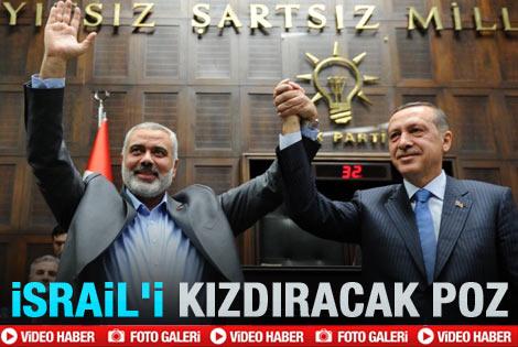 Filistin lideri AK Parti grubuna geldi