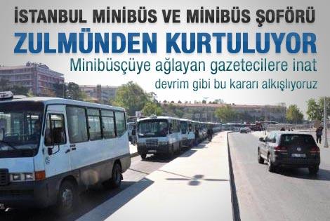 İstanbul'da minibüsler kaldırılıyor
