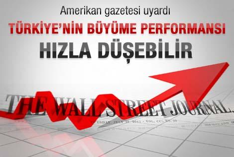 WSJ: Türkiye'nin büyüme performansı hızlı düşebilir