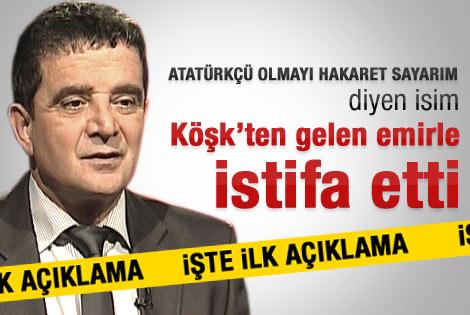 Mümtaz'er Türköne istifa etti