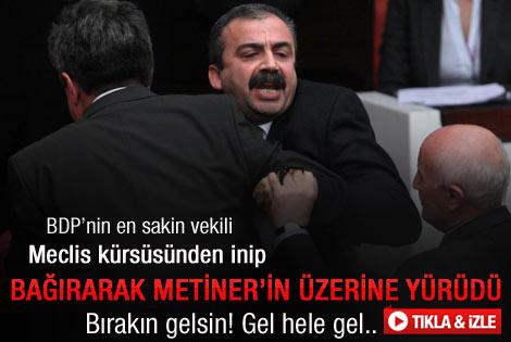 Sırrı Süreyya Önder Metiner'in üzerine yürüdü – İzle