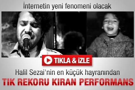 Halil Sezai'nin İsyan şarkısını küçük hayranı yorumladı