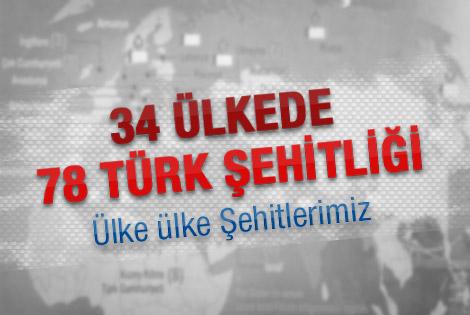 Hangi ülkede kaç tane Türk şehitliği var