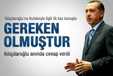 Erdoğan'dan fezlekeye ilk yorum