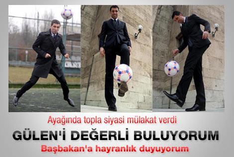 Hakan Şükür: Gülen'in hizmetleri takdirle karşılanmalı