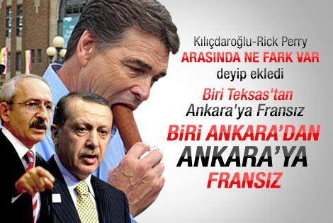 Erdoğan Kemal Kılıçdaroğlu'nu Rick Perry'e benzetti