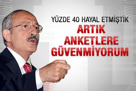 Kılıçdaroğlu: Anketlere güvenmiyorum