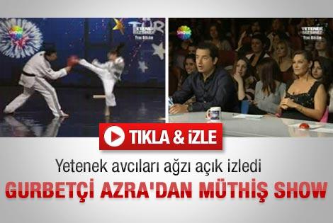 Yetenek Sizsiniz'de gurbetçi Azra'dan müthiş show