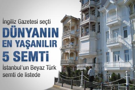 İstanbul semti en yaşanılası yerler arasında