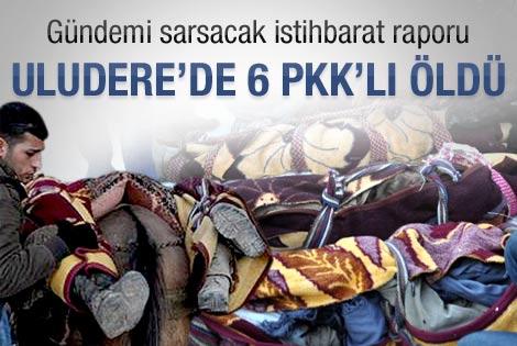 Uludere'de 6 PKK'lı öldü