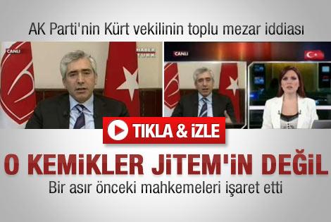 Diyarbakır'da çıkan kemikler JİTEM'in değil