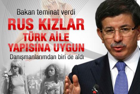 Bakan Davutoğlu: Rus kızlar Türk aile yapısına uygun