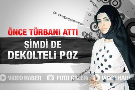 Rabia Kazan'dan dekolteli poz