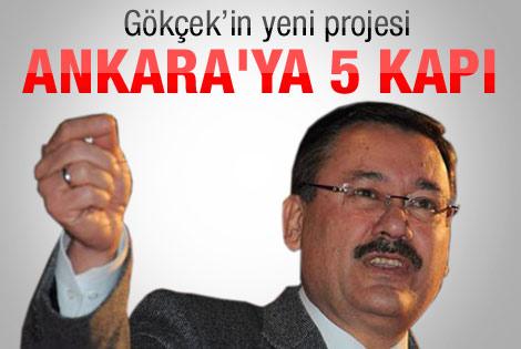 Gökçek Ankara'ya kapı yaptıracak