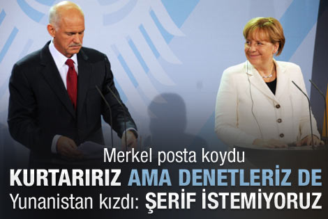 Merkel'in şerif önerisi Yunanistan'ı kızdırdı