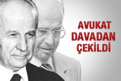 Evren ve Şahinkaya'nın avukatı davadan çekildi