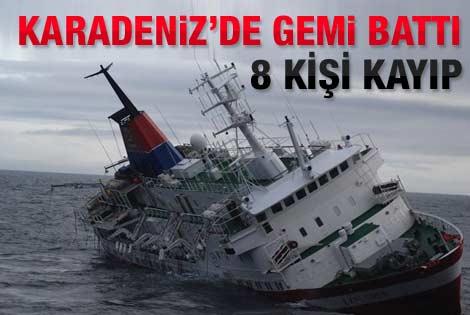 Zonguldak'ta gemi battı