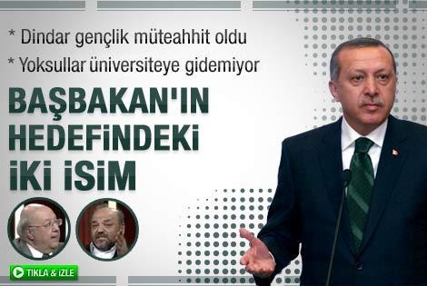 Erdoğan'ın Tarafsız Bölge'de eleştirdiği iki isim