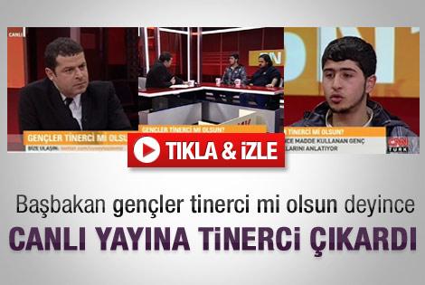 Cüneyt Özdemir canlı yayına tinerci çocuk çıkardı - İzle
