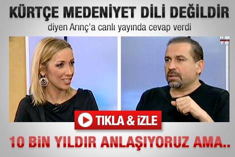 Erdoğan'dan Arınç'a Kürtçe tepkisi - izle