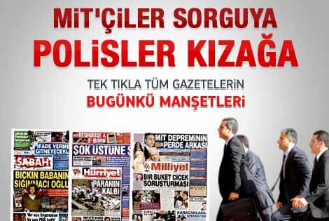9 Şubat 2012 günün gazete manşetleri