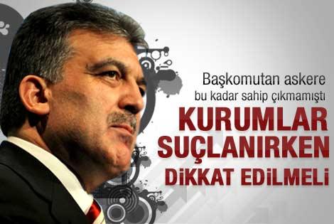 Abdullah Gül'den ifade açıklaması