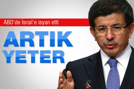 Davutoğlu İsrail'e isyan etti: Artık yeter