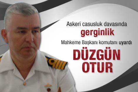 Mahkeme Başkanı Tuğamiral'i düzgün otur diye uyardı