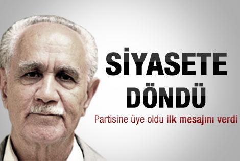 Kemal Burkay siyasete döndü