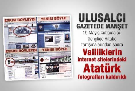 Sözcü Gazetesi'nin Atatürk ayrıntılı manşeti