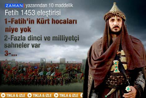 Mustafa Armağan'dan Fetih 1453 eleştirisi