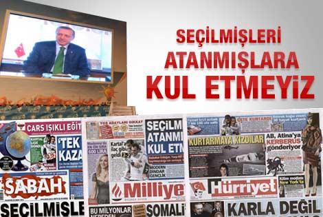 20 Şubat 2012 günün gazete manşetleri