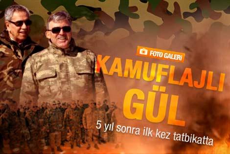 Abdullah Gül askeri tatbikata katıldı