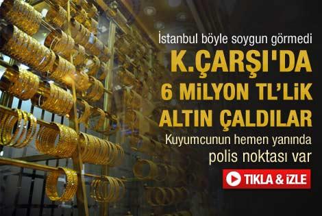 Kapalıçarşı'da 6 milyonluk soygun