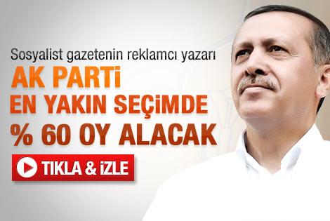 Başsoy: AK Parti en yakın seçimde % 60 oy alır