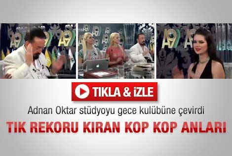 Adnan Oktar stüdyoyu gece kulübüne çevirdi - Video