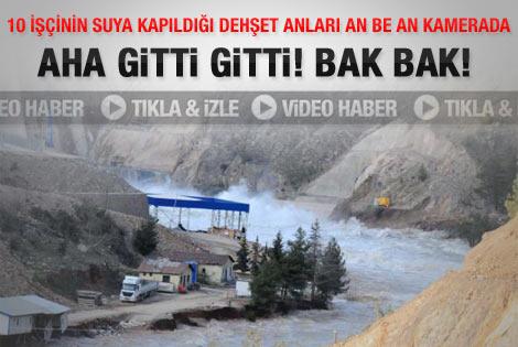 Baraj inşaatındaki patlama anı saniye saniye kaydedildi