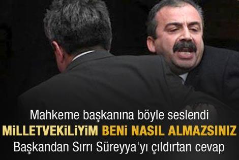 Sırrı Süreyya ile mahkeme başkanı birbirine girdi