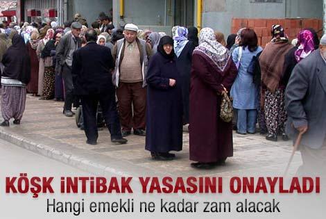Gül'den intibak yasasına onay