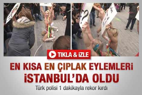 FEMEN'in İstanbul eylemi kısa sürdü - Video