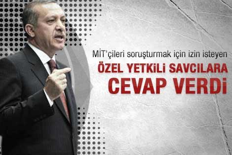 Başbakan'dan MİT'çilere izin açıklaması