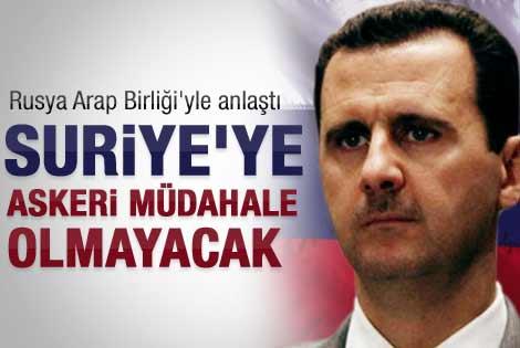 Rusya ve Arap Birliği'nden Suriye anlaşması