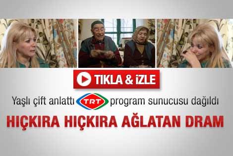 TRT sunucusunu hüngür hüngür ağlatan dram