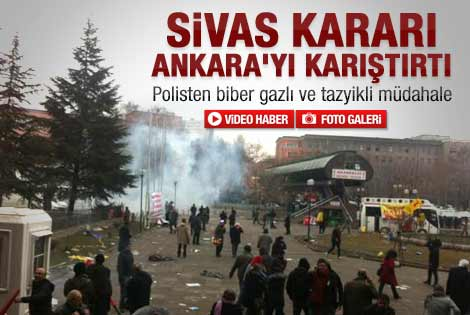 Sivas davası düştü Ankara karıştı