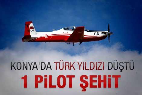 Konya'da eğitim uçağı düştü: 1 pilot şehit